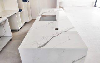 Bianco Venato polished kitchen